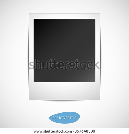 Retro Photo Frame With Shadow - Isolated Vector Illustration.  - stock vector