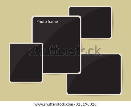 Retro photo frames. Photo frames for design use. Vector illustration. - stock vector