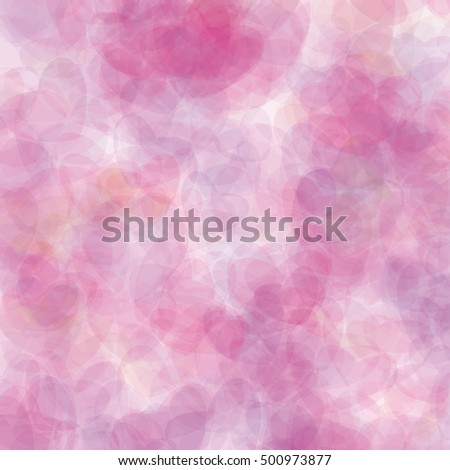 Retro pink vector pastel hearts background