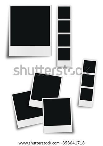 Retro polaroid photo frame isolated on white background - stock vector