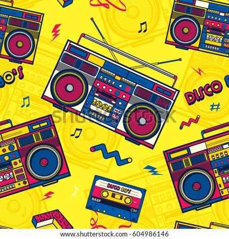 Boombox Pop Art Retro Pop Eighties Boo...