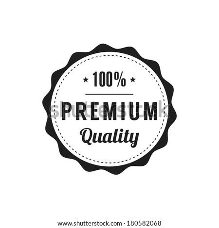 Retro  Premium Quality Label - stock vector