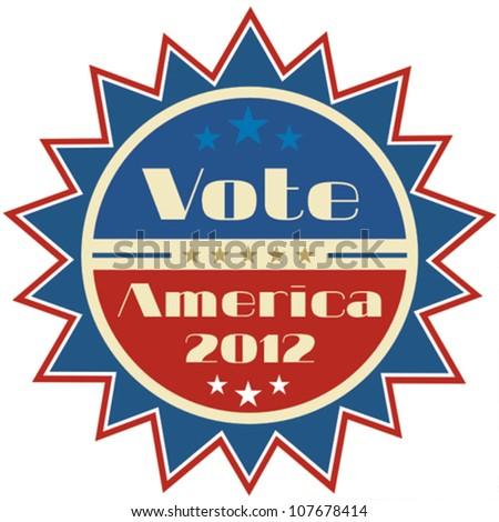 Retro presidential election 2012 badge - stock vector
