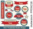 Retro Presidential Election Badges - stock photo