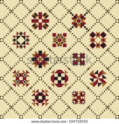 Retro print pattern - stock vector