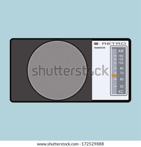 Retro Radio - stock vector