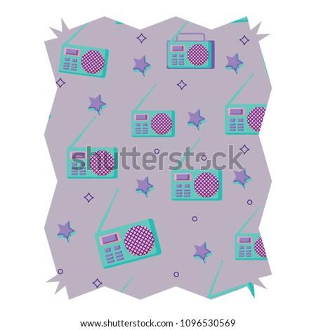 Retro Radio Design Stock Vector 1096530569 - Shutterstock
