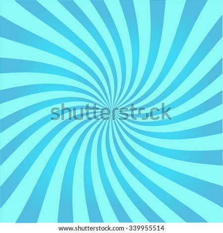 Retro ray background blue color stylish illustration - stock vector