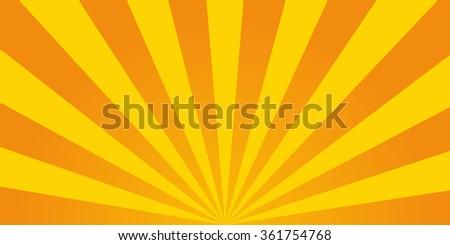 Retro ray orange background in  vintage style - stock vector