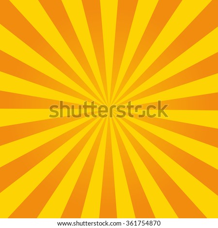 Retro ray orange background in  vintage style - stock vector