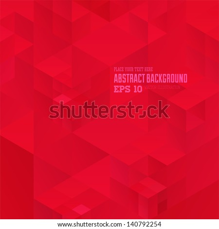 Retro red geometric pattern for modern hipster design - stock vector