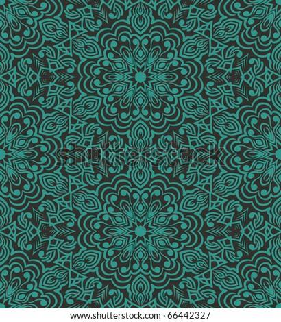 Retro repeating  wallpaper - stock vector