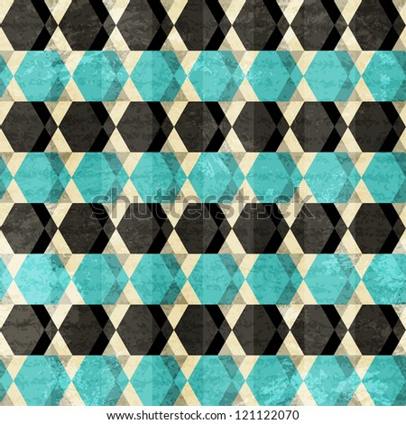 retro rhombus seamless pattern - stock vector