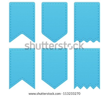Retro ribbons a tags - stock vector