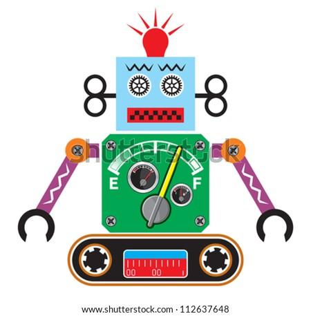 Retro robot - stock vector