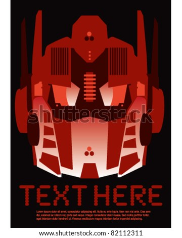 Retro robot poster - stock vector