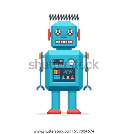 vintage robot stock images royaltyfree images amp vectors