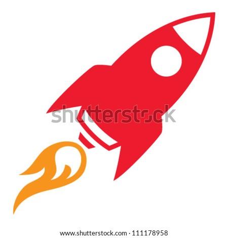 Retro Rocket - stock vector