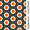 retro seamless abstract geometric pattern - stock