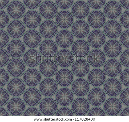 Retro seamless page decoration. Floral seamless vignette background. - stock vector