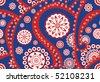 Retro seamless paisley (turkish cucumber) vector pattern - stock vector