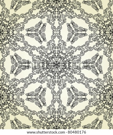 Retro seamless pattern.  Could be used as seamless wallpaper, wrapping paper, background, etc - stock vector