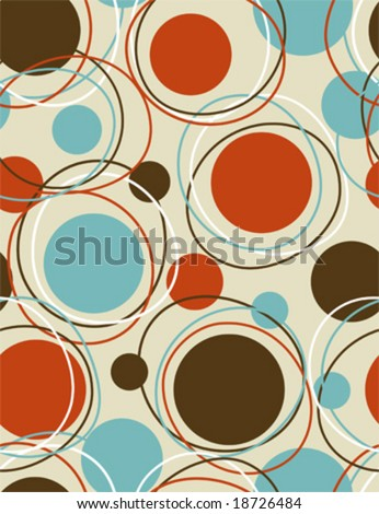 Retro  - seamless pattern geometric background - stock vector
