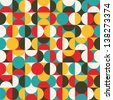 Retro seamless pattern with circles. Colorful vector background for hipster. - stock vector