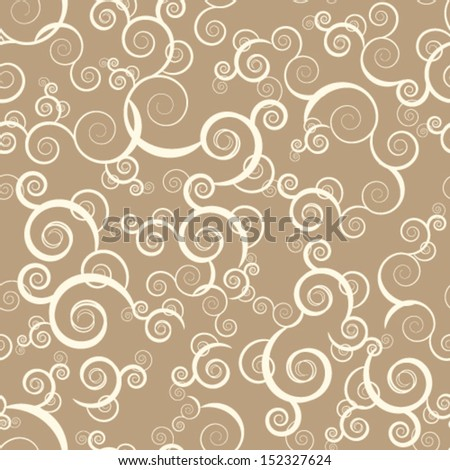 Retro seamless swirl background - stock vector