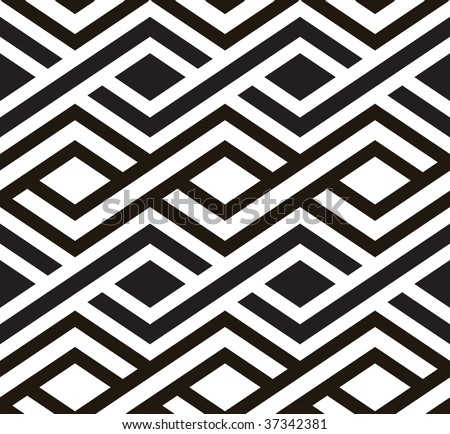 Retro seamless tile. Vector. - stock vector