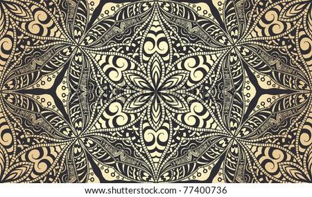 Retro seamless wallpaper - stock vector
