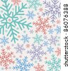 Retro seamless winter pattern, vector illustration - stock vector