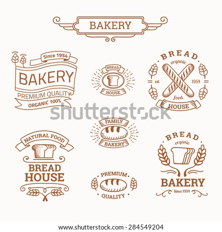 Bread logo stock images royalty free images vectors for Classic house bakery
