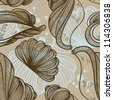 retro shells - seamless pattern - stock vector