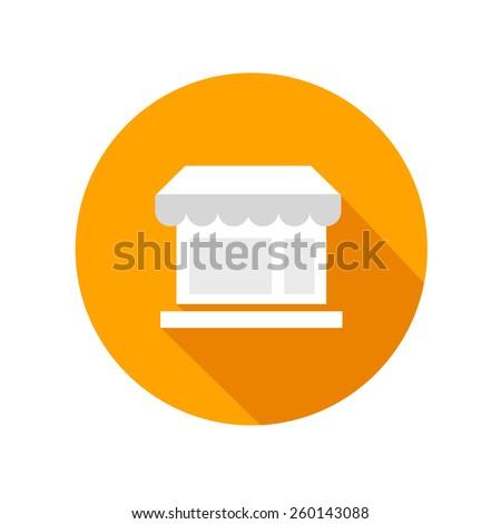Retro shop icon  - stock vector