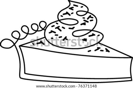 retro slice pie sprinkles outlined black stock vector 76371148 rh shutterstock com pumpkin pie clipart black and white pie slice clipart black and white