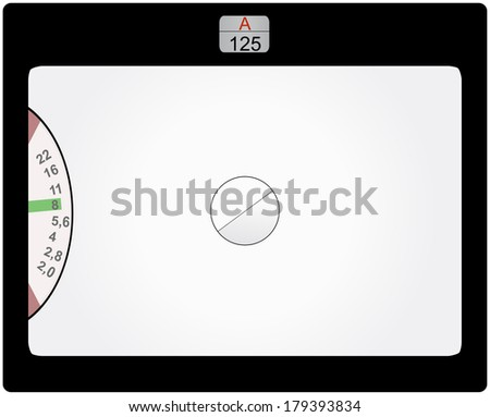 retro SLR viewfinder,  free pix space, elements grouped for better handling - stock vector