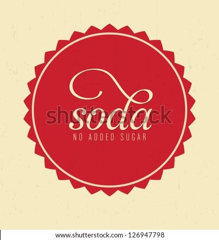 Retro Soda Design - stock vector