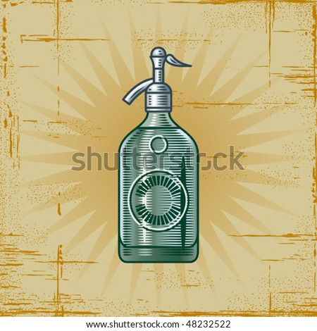 Retro Soda Siphon. Vector - stock vector