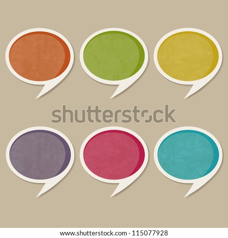 retro speech bubbles - stock vector