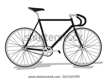 Retro sport bicycle vector illustration - stock vector