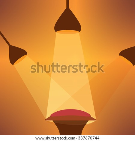 Retro stage podium background - stock vector