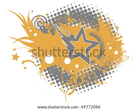 Retro Star Background - stock vector