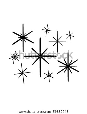 Retro Stars 1 - Clip Art - stock vector