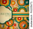 Retro stilized brochure design - stock photo