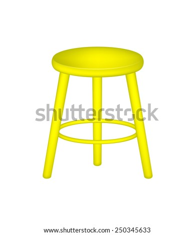 Retro stool in yellow design