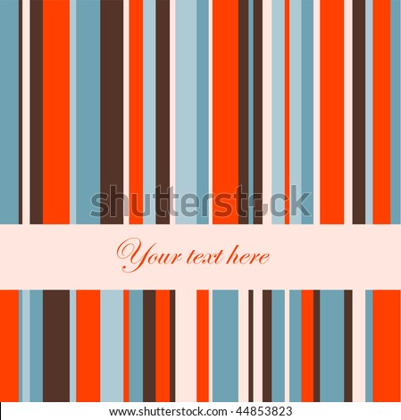 Retro stripe pattern. - stock vector