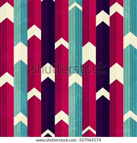 retro stripes seamless pattern - stock vector
