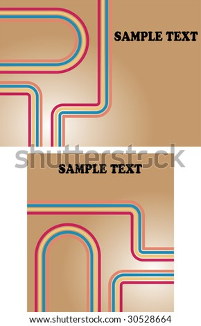 Retro style background with stripes