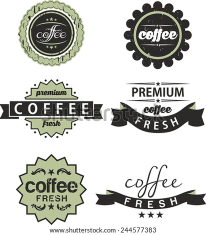 Retro style Coffee labels